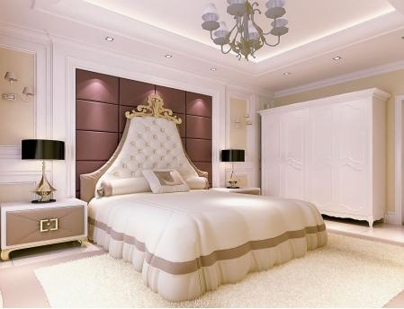 欧式床头背景墙图片