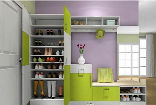 欧式鞋柜效果图图片