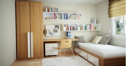在客厅装修效果图小户型的效果图中,对于小户型房子的空间利用上,如
