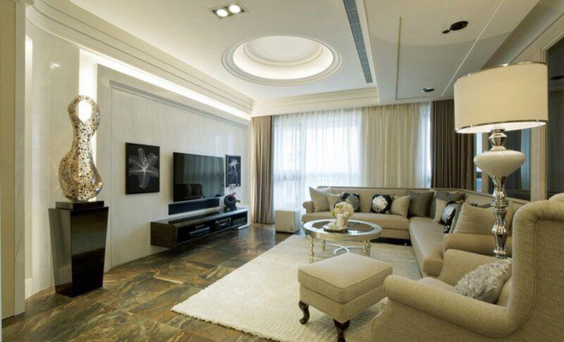 简约干净背景墙 这张客厅 电视背景墙效果图,采用了 现代简约式的