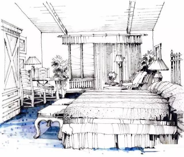 手绘卧室步骤练习
