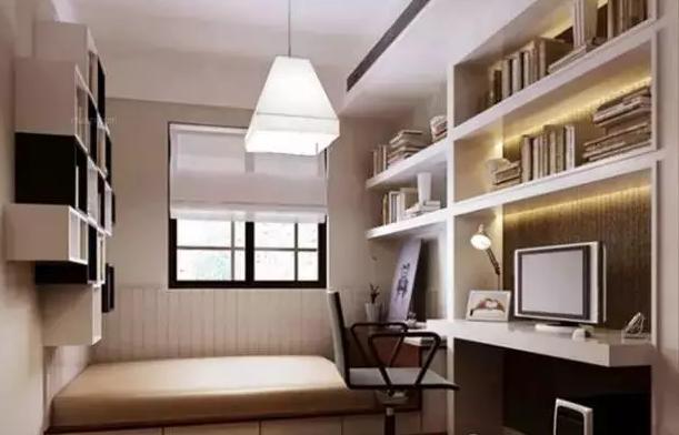 榻榻米客房卧室兼书房设计