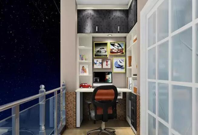 阳台做书房效果图欣赏