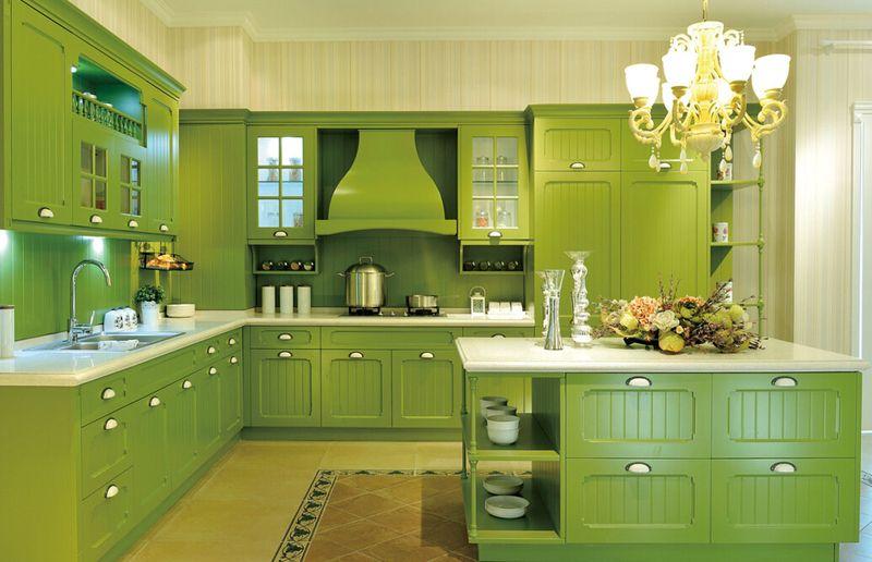 厨房橱柜颜色搭配图片