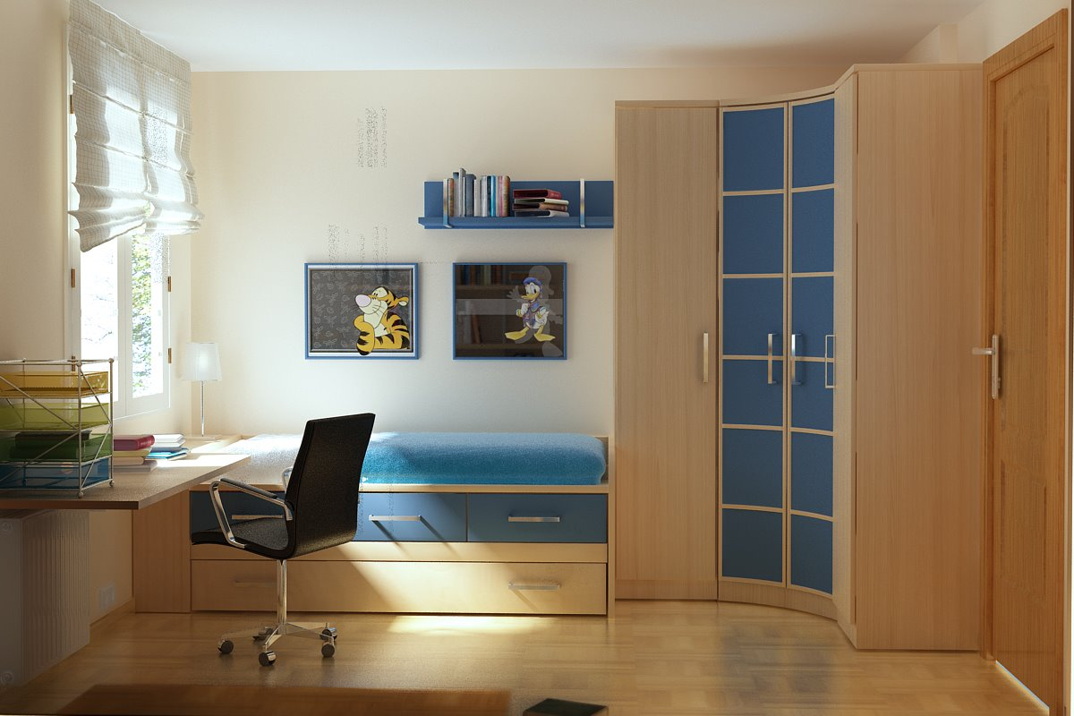 13张实用好看整洁的卧室书桌设计,快拿去参考吧!