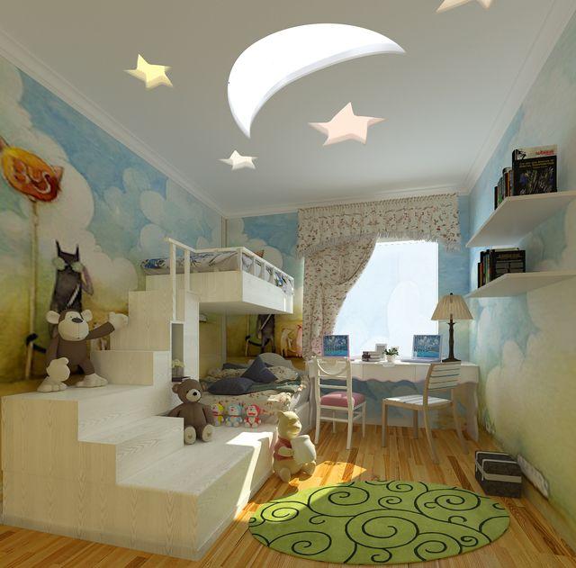 儿童房吊顶设计,儿童房效果图赏析