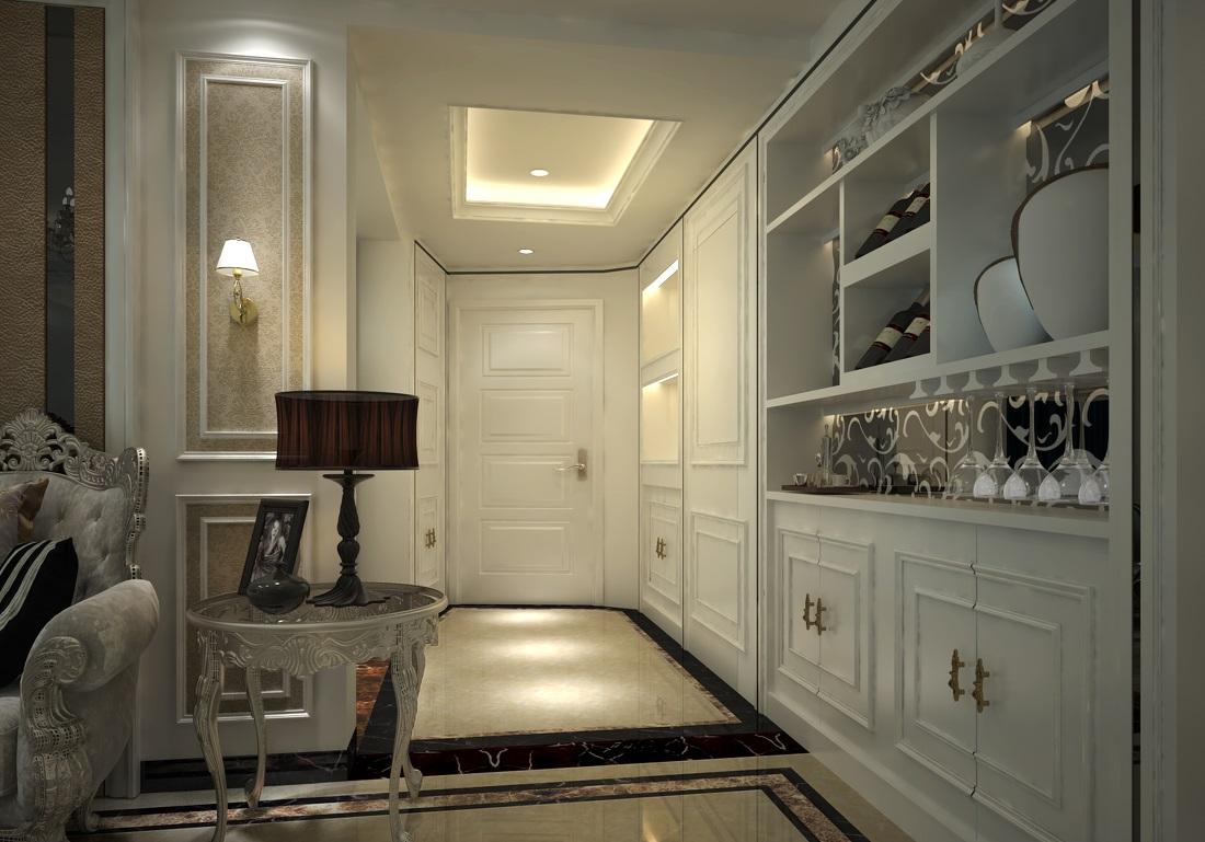 应以欧式风格装修过道玄关,从而令房间的华丽奢华品质更上一个台阶
