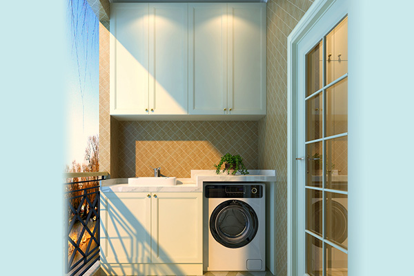 1,仿百叶阳台 储物柜 上图所示的这一款柜子是用人造板制作而成的,加图片