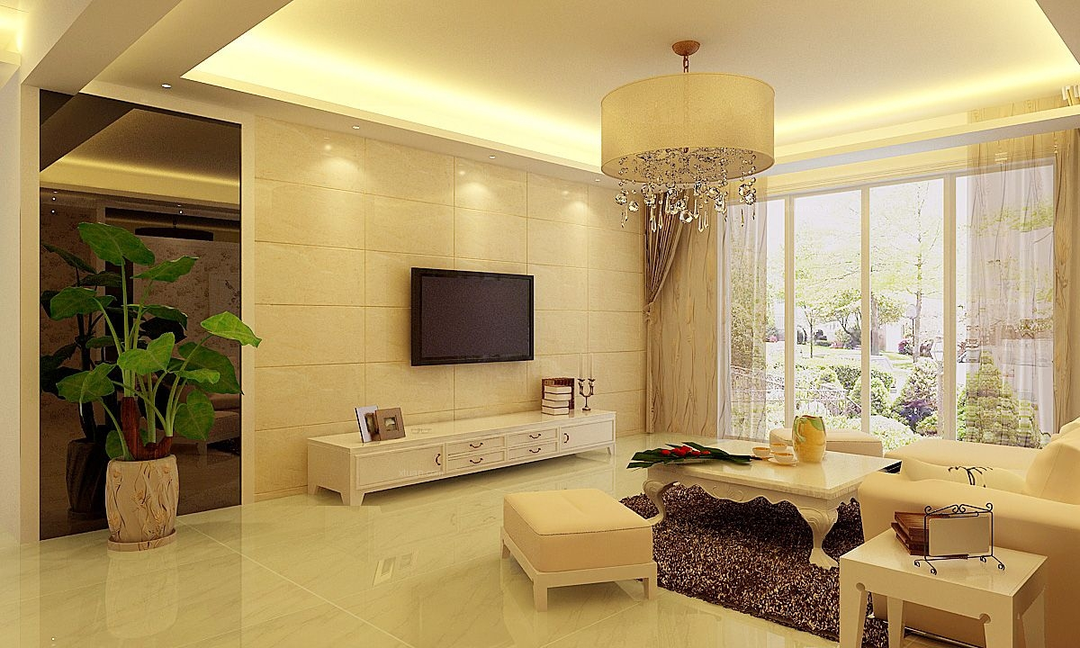 客厅 电视墙装修效果图大全  1.