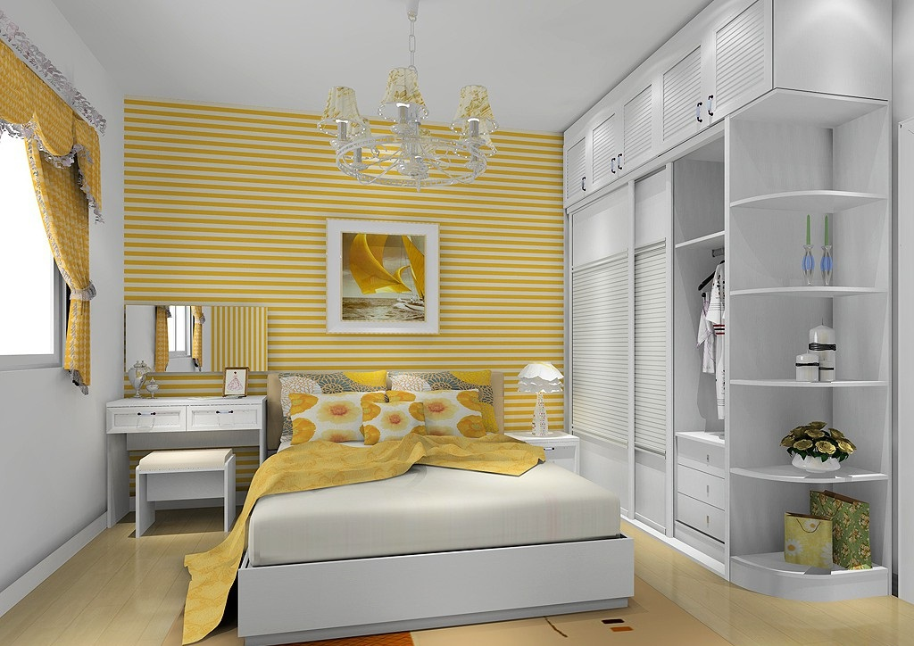 五种书柜结合衣柜设计方案 攻克小户型卧室装修难题
