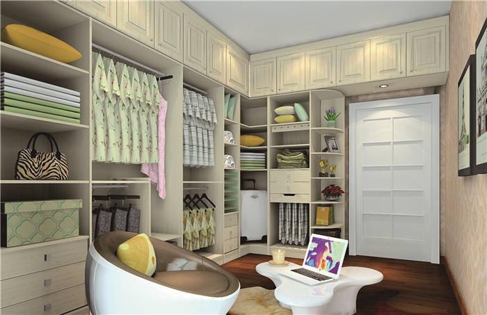 小户型卧室衣帽间设计--维意定制家具网上商城