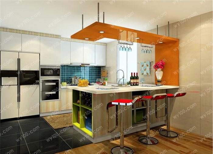 厨房柜子门颜色搭配技巧有哪些?图片