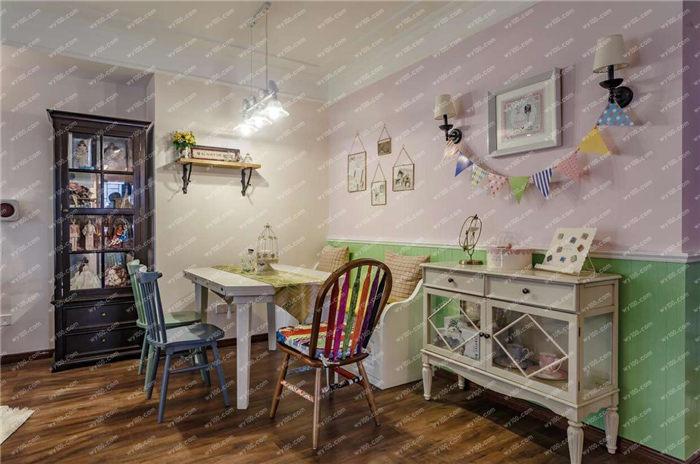 90平米田园风格装修案例 - 维意定制家具网上商城
