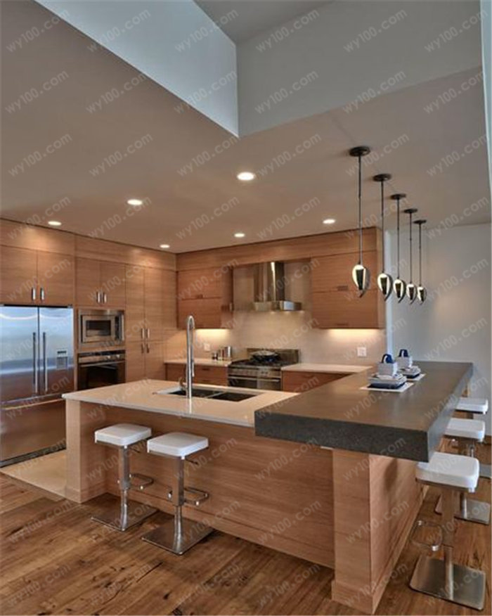 开放式厨房吧台怎么做 - 维意定制家具网上商城