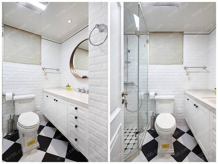 90平米北欧装修效果图的 卧室在色调上给人感觉非常的舒适,白色与棕