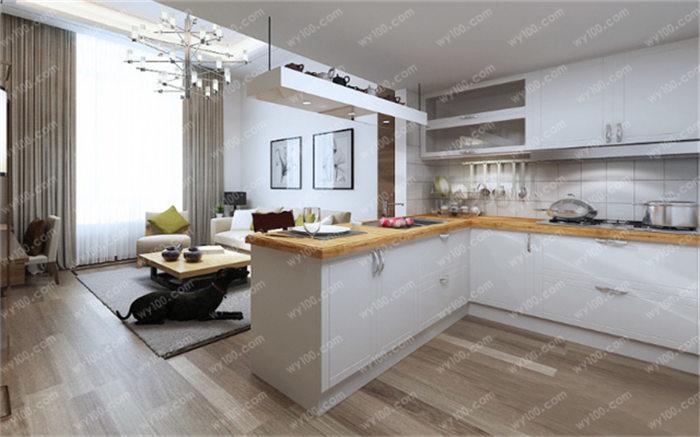 小戶型開放式廚房裝修案例,打造高顏值廚房開放空間