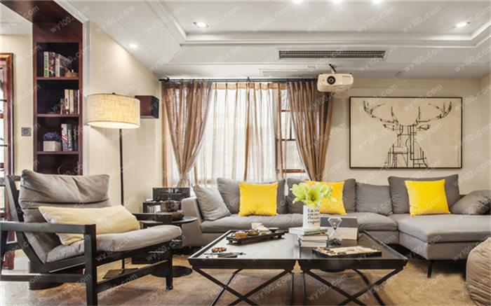 第一张2018客厅装修图片我们看到的是新 中式风格的客厅 装修案例图片