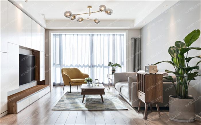 我们现在看到的就是一款北欧风格的2018客厅装修图片了.图片