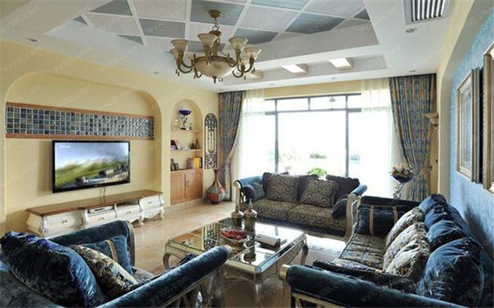 地中海风格客厅摆设案例 - 维意定制家具网上商城