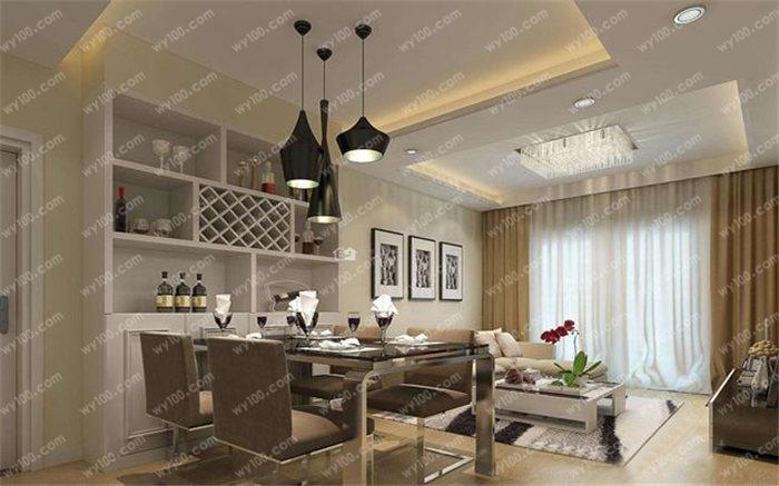 餐厅客厅一体装修效果图 - 维意定制家具网上商城