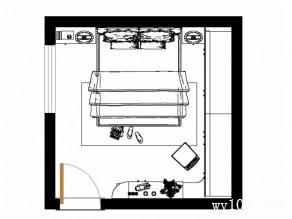 时尚卧室效果图 14�O木质元素塑温暖_维意定制家具商城