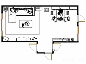 红木电视柜客餐厅效果图 30�O精致的沙发背景_维意定制家具商城