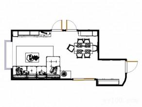 宽敞客餐厅效果图 33�O软装上暖色作点缀_维意定制家具商城