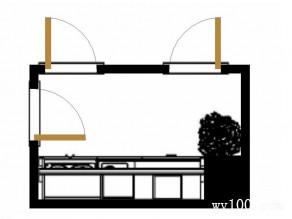 一字型橱柜效果图 4平满足了厨房的基本功能_赌盘网