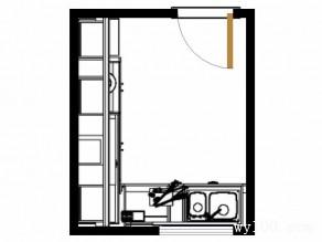 L型橱柜设计 6平一字型的吊柜略显大方_赌盘网