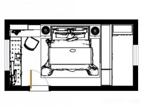卧室兼衣帽间 书柜与飘窗让房间功能最大化_赌盘网