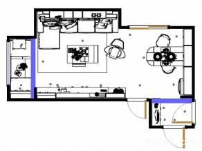 现代简约客餐厅效果图 21�O给人一种清新自然的感觉_赌盘网