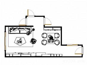 东南亚客餐厅效果图 27�O吧台型书桌让空间更活力_赌盘网