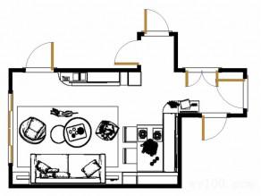 现代简约客餐厅效果图 17�O超强定制性柜体_赌盘网