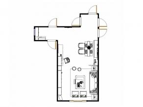 森赛尔系列客餐厅效果图 58�O整齐划一_维意定制家具商城