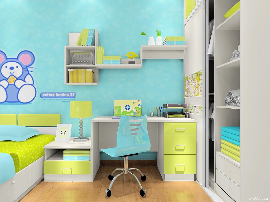 儿童房装修效果图 9㎡ 简约不简单_维意定制家具商城