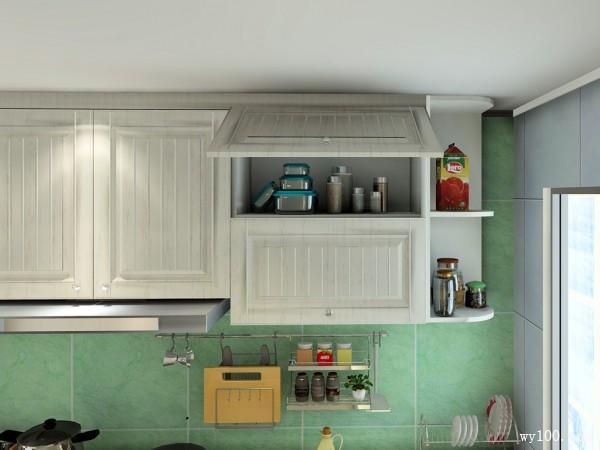 美式厨房效果图 L型橱柜超强收纳_赌盘网