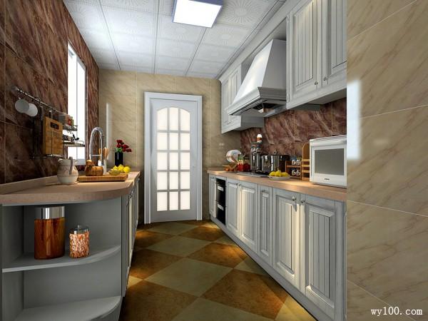 二字型厨房装修效果图