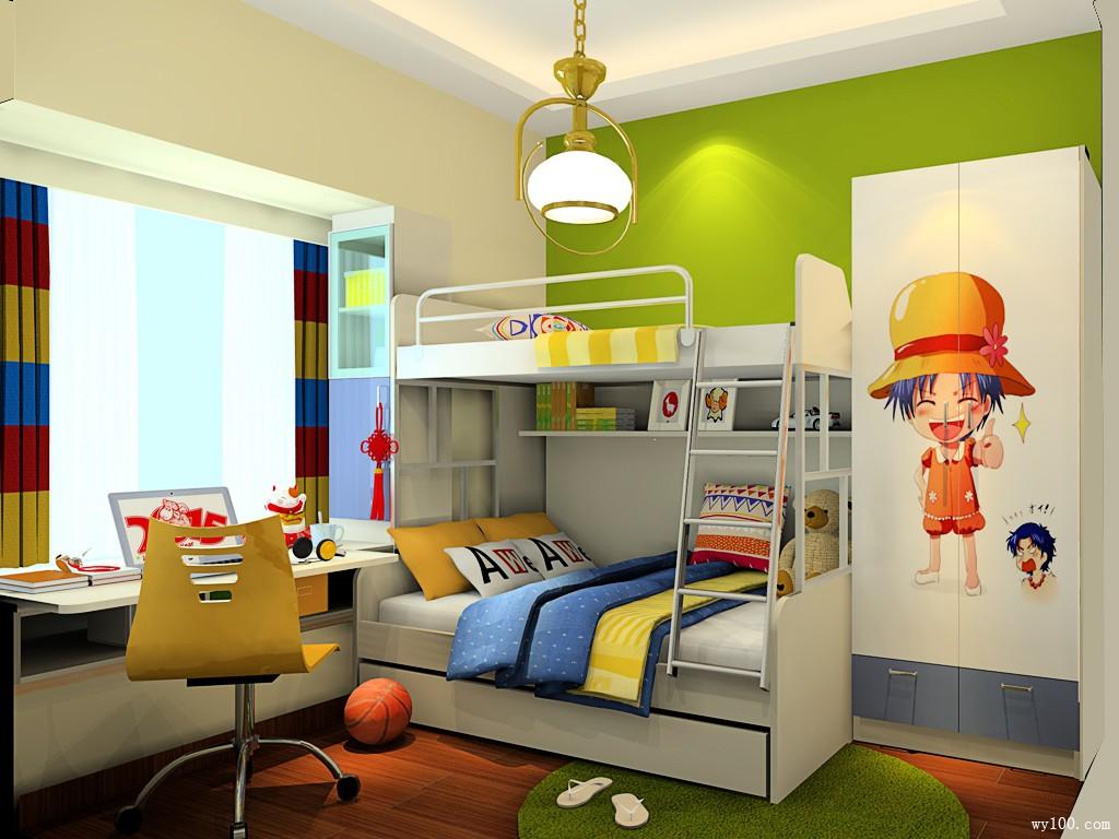 一体式子母床的设计,可以很好地解决客人留宿的问题图片