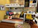 现代卡通儿童房效果图_维意定制家具商城