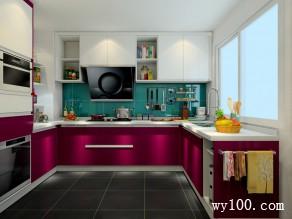 8平优雅自然简欧风格厨房_维意定制家具商城