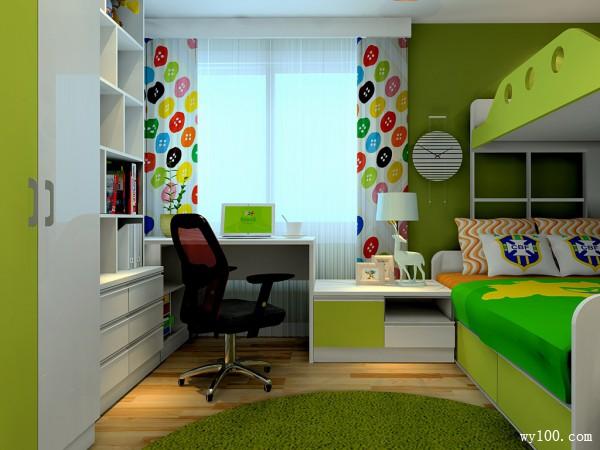 现代儿童房效果图_维意定制家具商城