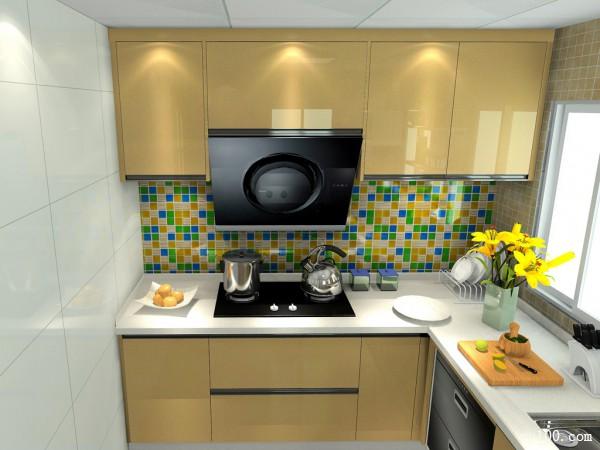 欧式简约厨房效果图 6平打造出高档的橱柜_赌盘网