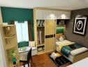小户型卧室效果图 9平简约柜体充当梳妆柜_维意定制家具商城