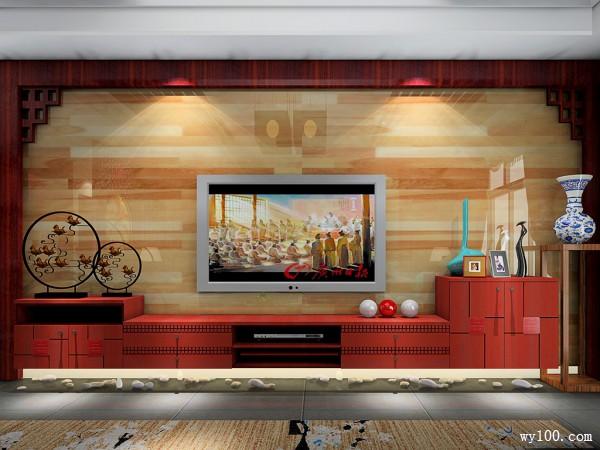复古电视柜客餐厅装修效果图