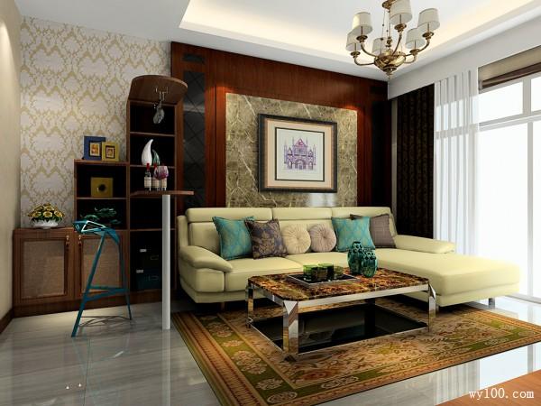 复古沙发茶几装修效果图