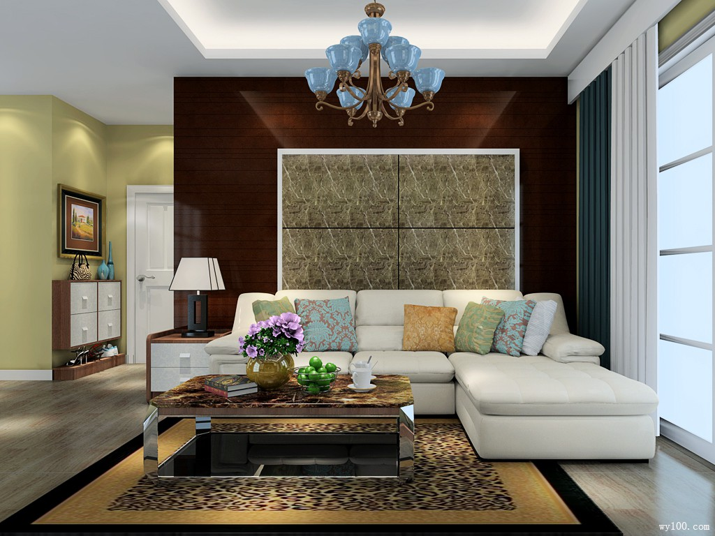 背景窗户造型的设计与墙面的欧式线条的装饰造型成熟稳重