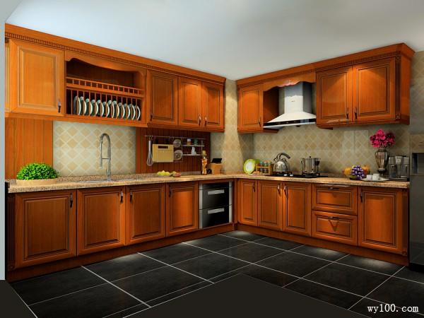 复古美式厨房 贵族风情_维意定制家具商城