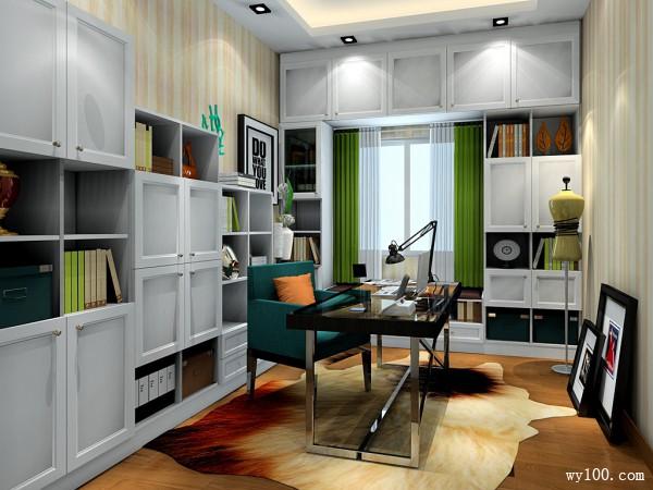 阶梯式书柜拼搭书房 灵活书桌使其更加舒适自由_赌盘网
