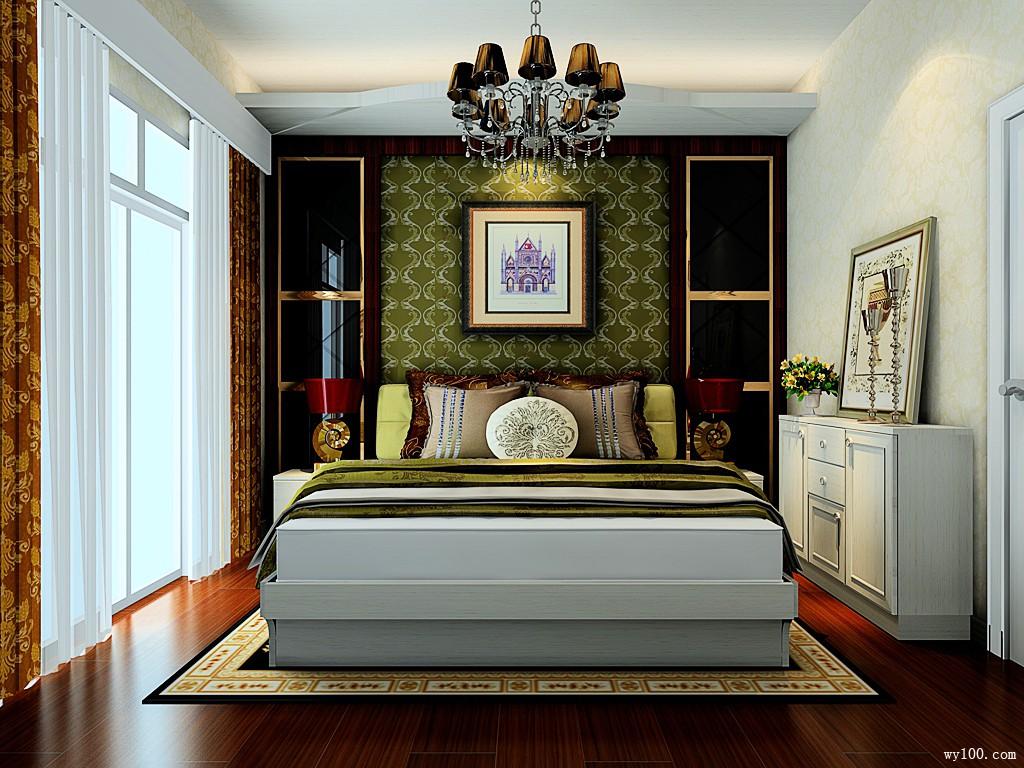 欧式卧室效果图 10㎡高端大气豪华型图片