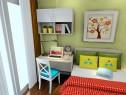 温馨色调为主儿童房 窗口边设计书桌方便学习_赌盘网